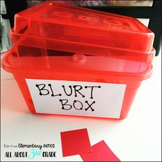 The Blurt Box- This classroom management strategy can help stop those blurters…