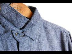 Diamond Chambray Cavalry Shirt (bsfl-12110B)|Shirts|BLACK SIGN|VINTAGE BLUE INC.
