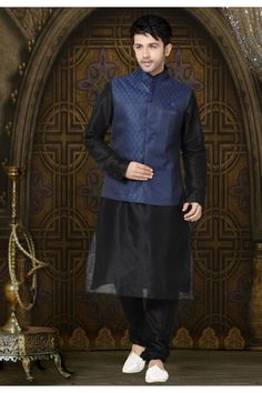 Buy Indian Kurta Pajama for Men online USA from Panash India at best price. We offer stylish range of designer mens kurta pajama online for wedding. Beatles, Black Waistcoat, Indian Kurta, Nehru Jackets, Patiala Salwar, Sherwani, Men Online, London
