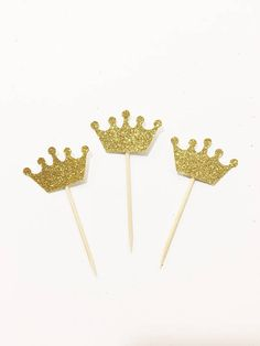 Crown Cupcake Toppers Princess Party Princess Birthday First