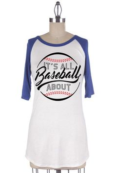 """It's All About Baseball"" Royal Raglan - The Style Bar Boutique  - 1"