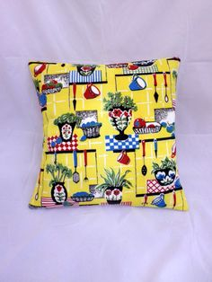 50's handmade kitchen cushion - http://whatkatydid.biz/product/kitchen-diner/50s-handmade-kitchen-cushion/