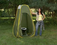 Camping Travel Toilet and Privacy Pop-up Complete Package by Matter Of Time, Inc