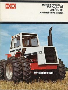 Case Traction King 2670 vintage literature (1976). #MachineCrushMonday Agriculture, Farming, Vintage Advertisements, Ads, Red Stuff, Farm Signs, Old Tractors, Case Ih, Vintage Farm