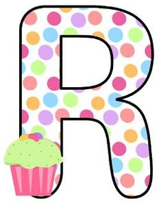 Abecedario con Lunares de Colores y Cupcakes. Alphabet with Colored Polka Dots and Cupcakes. - Oh my Alfabetos! Printable Alphabet Letters, Alphabet And Numbers, Letter Of The Week, Letter I, Scrapbook Letters, Scrapbook Paper, Abc For Kids, Patch Aplique, Letter Balloons