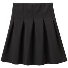 T by Alexander Wang Neoprene Pleat Skirt ❤ liked on Polyvore