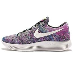 Nike Womens LunarEpic Low Flyknit Running Shoe BlackSummit WhiteFire PinkBlue GlowGhost Green 65 >>> Visit the image link more details.(This is an Amazon affiliate link and I receive a commission for the sales)