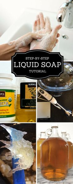 *******This one************** HOW TO MAKE DIY LIQUID CASTILE SOAP Northwest Edible Life
