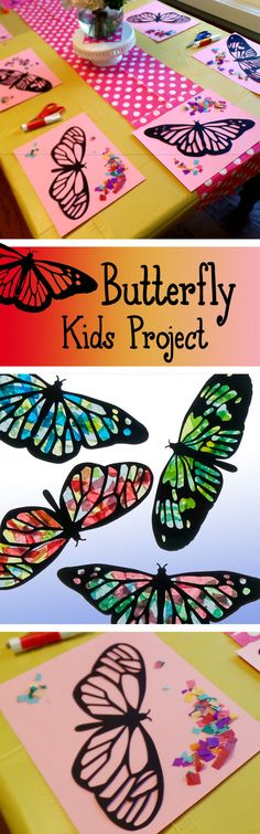 Butterfly Kid's Craft activity- so much fun!!!   https://www.etsy.com/listing/225985282/kids-craft-butterfly-stained-glass