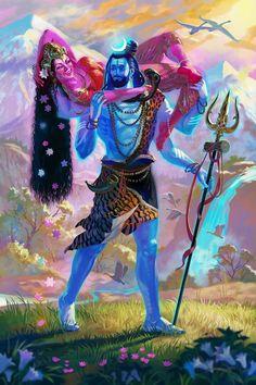 Shiva and Sati Mahakal Shiva, Shiva Art, Hindu Art, Kali Hindu, Lord Ganesha, Lord Krishna, Krishna Krishna, Indian Gods, Indian Art