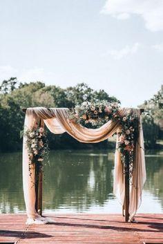 wedding arch with fa