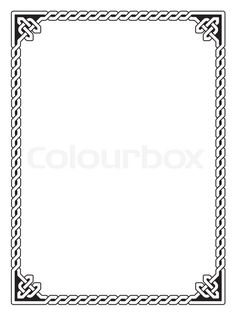 Stock vector of 'Traditional Celtic braided border, black isolated on white'