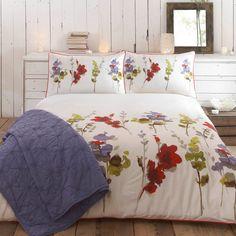 RJR.John Rocha Red & Green 'Meadow' bed linen-   Debenhams