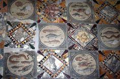 Mosaic in Villa Zliten, Leptis Magna, Libya Ancient Rome, Ancient Greece, Mosaic Art, Mosaic Tiles, Stone Rug, Classical Antiquity, Roman Art, Minoan, Romans