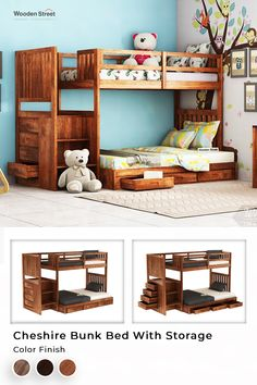 Bring home this space saver option for, siblings sharing the same room. The Cheshire Bunk Bed has added utility of storage also, where you can keep daily usable quilts to make the bedroom of your kids clutter free.  . #woodenstreet #furniture #furniturebondedwithlove #bed #bunkbed #bunkbeds #bunkbedforkids #bunkbeddesign #newfurniture #kids