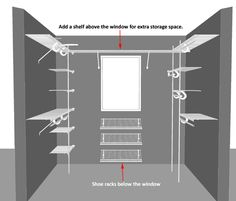 How To Design A Walk In Wardrobe We use ClosetMaid Wire Shelving systems to show you how to make the most of a spare room or walk in closet space for storage!