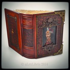 Personalized journal in Vampire thematic... 11 x 8 inches; thickness 3.5 inches; 250 leaves (500 pages), ...