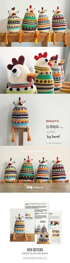 Hen Sisters Amigurumi By De Estraperlo - Purchased Crochet Pattern - (amigurumipatterns)
