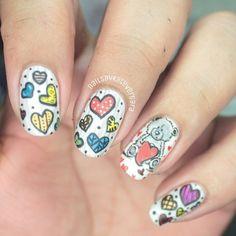 valentine by nailsbykatevergara #nail #nails #nailart