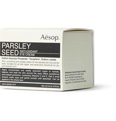 Aesop Parsley Seed Anti-oxidant Eye Cream, oz In N/a Benzalkonium Chloride, Theobroma Cacao, Lavandula Angustifolia, Seed Butter, Aesop, Lavender Oil, Eye Cream, Beauty Make Up
