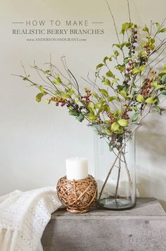 How to create realistic berry branches | www.andersonandgrant.com