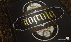 Gold Gilding Typographic Illusionist Poster Design