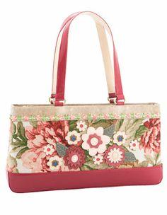 Spencer & Rutherford - 'Marina' Shoulder Bag in Red