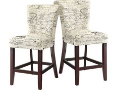 Script Counter Height Chair Set Of 2
