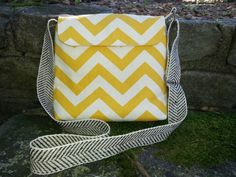 Crossbody bag Hip Bag Small Messenger Yellow  by BirdOnAWireBags, $38.00