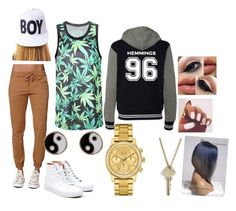 """Untitled #20"" by georgia-born-child16 ❤ liked on Polyvore featuring Bullhead Denim Co., Vans, Accessorize, Lacoste, The Giving Keys and BOY London"