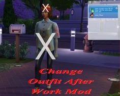 Mod The Sims: Change Outfit After Work Mod by scumbumbo • Sims 4 Downloads