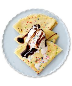 Give the classic yellow cake a break this year and make these colorful crepes for your next birthday celebration.