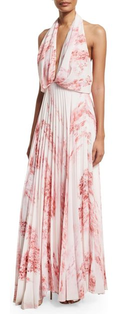 """On SALE at 65.00% OFF! Sleeveless Halter Floral-Print Maxi Dress by Camilla & Marc. Camilla and Marc floral-print dress. Approx. length: 53""""L from shoulder to hem; back, 43.3""""L from waist to hem. Plung..."""