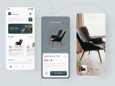 Ecommerce App, Ecommerce Web Design, App Ui Design, Mobile App Design, App Design Inspiration, Ui Kit, Apps, Furniture, Redstone