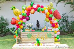 Fruit Birthday, Second Birthday Ideas, First Birthday Party Themes, Flamingo Birthday, Rainbow Birthday Party, Birthday Party Decorations, Tutti Fruity Party, Fruit Party, Tutti Frutti