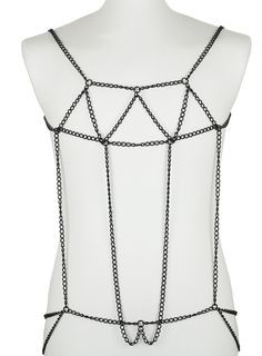 Black metal body chain, by Topman. I DROOL OVER THIS.
