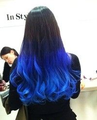 soft black/blue ombre  maybe later this year x