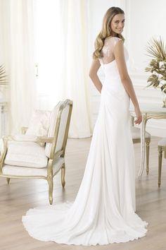 2014 Concise Wedding Dresses Sheath V Neck Straps Court Train Embellished With Beads