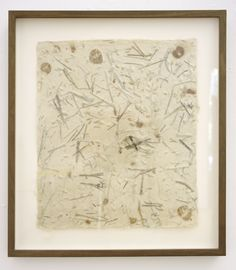 Medicine Drawing #8 | John Cage. Handmade paper from herbs.  1991  14x11 in.  PUR