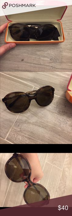 Kate Spade - Polarized Sunglasses - EUC Reposhing. Very cute, polarized sunglasses but a bit too small for my face. Although I have a narrow face, I think it would be better suited for someone with a really small face. Excellent condition, no scratches. kate spade Accessories Sunglasses