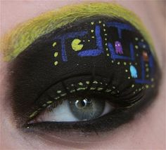 Geeky Eye Makeup : Talented makeup artist Jangsara has created so many amazing geeky eye makeup looks! Be sure to also check out her Avengers eye makeup! Here's a collection of some of her work including Batman, Alien, video games & an adorable Stitch... ♥