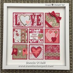 Meant To Be Framed Art (Bonnie Stamped) Valentines Frames, Valentine Crafts, Happy Valentines Day, Valentine Stuff, Valentine Ideas, Collage Frames, Box Frames, Paper Cards, Stamping Up
