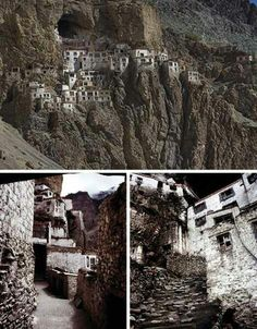 Phuktal Monastery in the Himalayas....This is home 2 the Gelug (or Yellow Hat) Buddhist Monks~