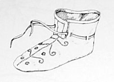 10th C. Viking Shoes - Chopine, Zoccolo, and Other Raised Heel and High Heel Construction
