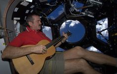 Retired Commander Chris Hadfield is releasing his first album featuring guitar and vocal tracks recorded in space during his six month stay on the ISS. Chris Hadfield, Love Astrology, Mission To Mars, Google Hangouts, One Small Step, Nasa Astronauts, Life On Mars, Space Photos, Earth From Space