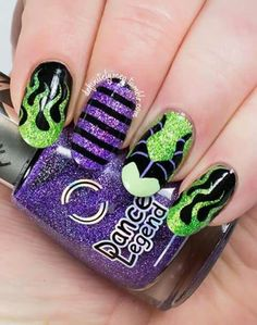 Maleficent nails!
