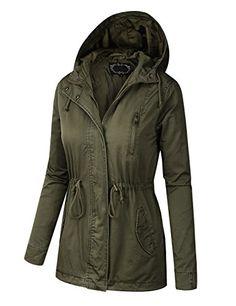 e64335a5d40a Beautiful B.I.L.Y BILY Women Junior Fit Military Anorak Safari Hoodie Jacket  Women s Fashion Clothing online.