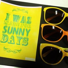 I was made for sunny days #yellow #sun #sunny #summer #moschino #bsb #eyewear #glasses #sunglasses #sunnies #glasses #style #fashion #optica...