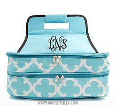 Monogrammed nsulated Double Casserole Tote