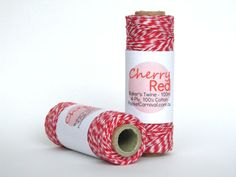Baker's Twine Roll - 100m - Cherry Red